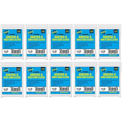 1000 Arkero-G Inner Card Sleeves Precise Pro-Fit Magic Pokemon Karten Hüllen