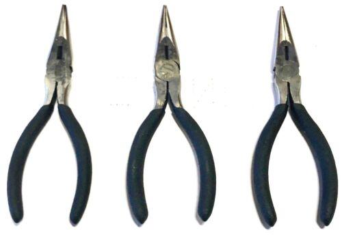"5-1//2/"" Long Nose Pliers Cushion Grip 3 Pack"
