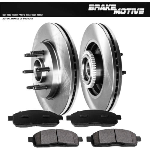 Front OE Brake Rotors And Metallic Pads For 2006 2007 2008 Ford F150 Mark LT 2WD