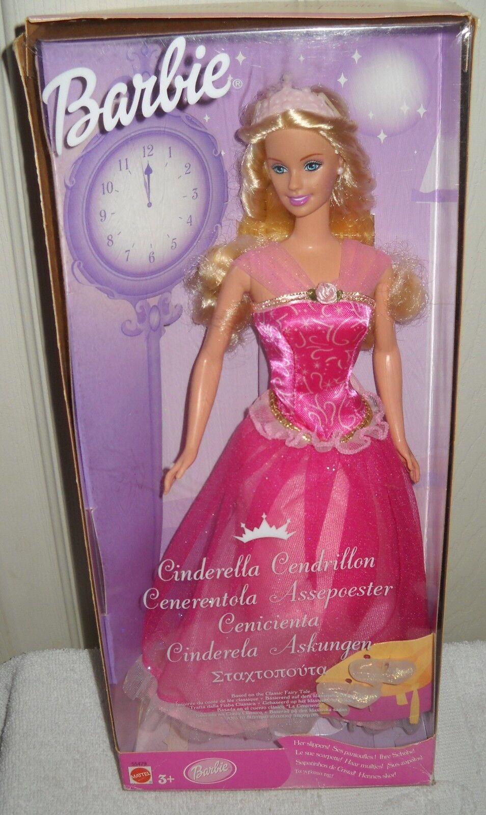 Nunca quitado de la Caja Mattel Cenicienta Cuento De Hadas Barbie emitido extranjeros