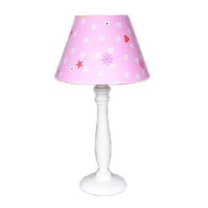 Kinderlampe rosa lampenschirm sterne lampe kinderzimmer tischlampe stern herz ebay - Tischlampe kinderzimmer ...