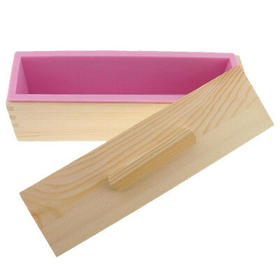 Other Baking Accessories Home & Garden Practical 1200g Holz Seifenform Weiche Silikon Laib Seifenform Diy Backwerkzeug C Rosa Easy To Use