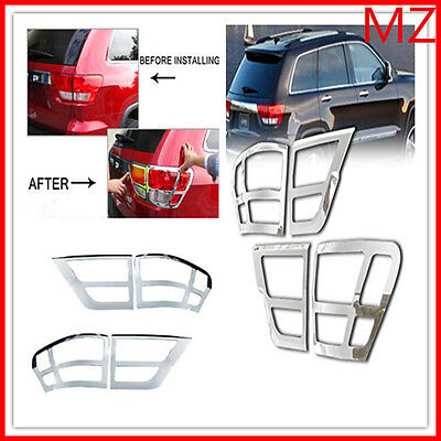 For 11-13 Jeep Grand Cherokee Chrome Tail light Trims Covers Rear Trunk