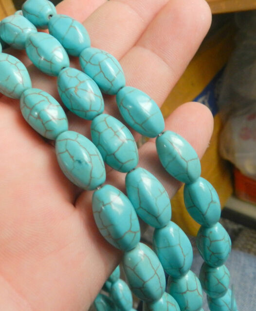 """New 10x16mm Turquoise Gemstone Loose Beads 15"""" sf"""
