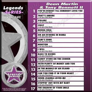 Diligent Karaoke Legends Series 3 Cdg Disques Dean Martin, Louis Armstrong Neuf Avec Imprimé-afficher Le Titre D'origine Suppression De L'Obstruction