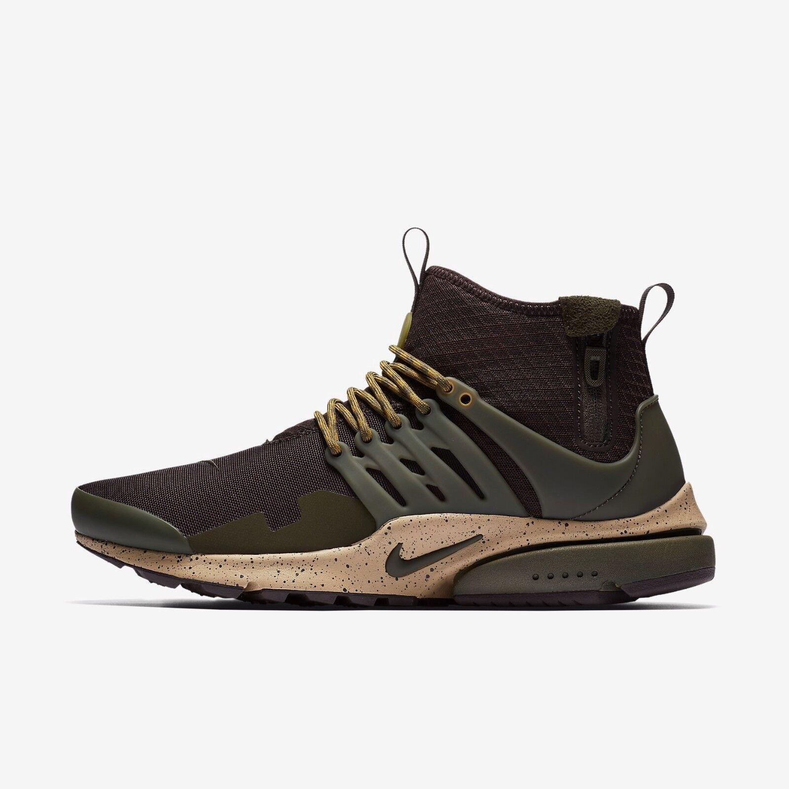 NIKE AIR PRESTO MID UTILITY MEN'S SHOE - Velvet Brown/Mushroom/Desert Moss/Cargo The latest discount shoes for men and women