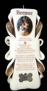 100% customized PET MEMORIAL candle with photo, personalization & FREE shipping
