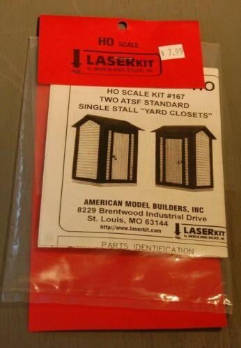 American Model Builders Laser Kit #167 Two ATSF Standard Single Yard Closets