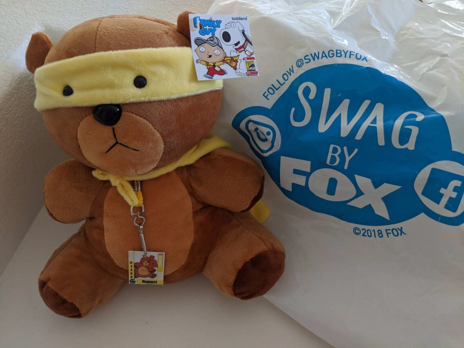 SDCC Comic Con 2018 Family Guy Super Rupert Plush Toddland Exclusive LE 300