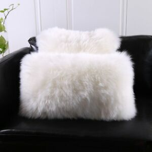 Single-Sided-White-Australia-Sheepskin-Pillow-Sofa-Cushion-Cover-Fur-pillowcase