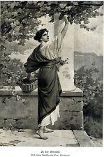 Paul Thumann * In der Weinlese * Frauenbildnis 1907