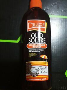 DELICE OLIO SOLARE ABBRONZATURA abbronzante olio di cocco spray 150 ml