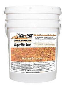 Seal N Lock Super Wet Concrete Paver Sealer 5 Gallon Ebay