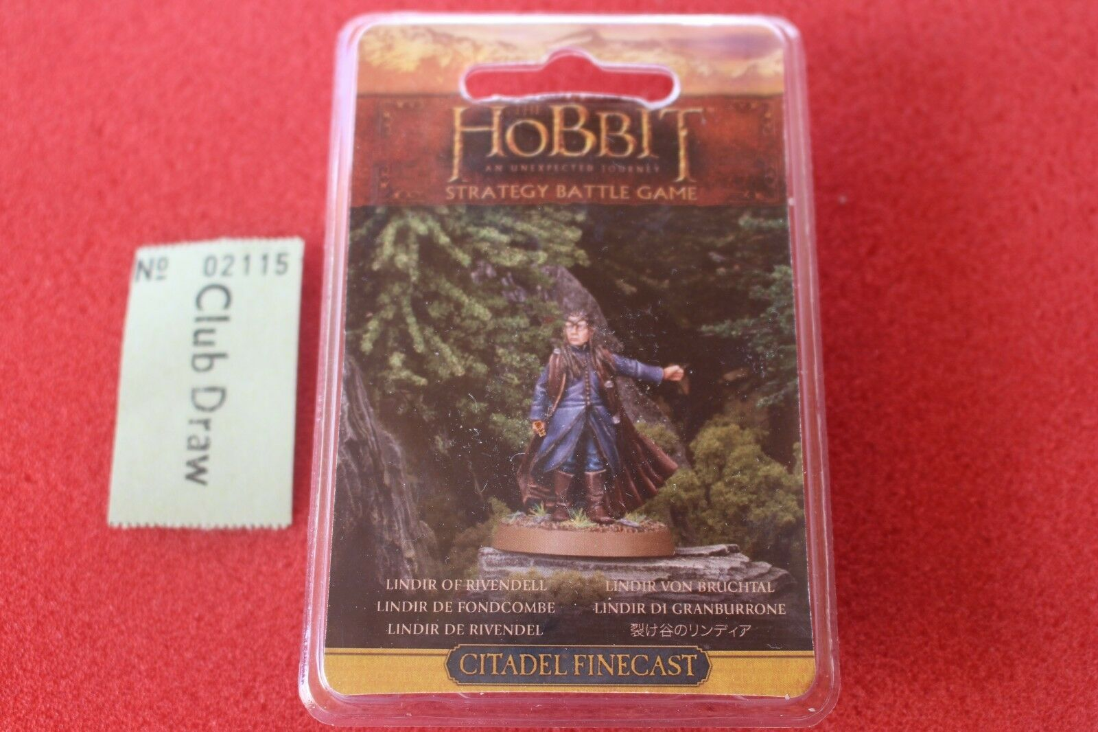 Games Workshop The Hobbit Lindir of Rivendell Middle Earth Finecast New BNIB OOP