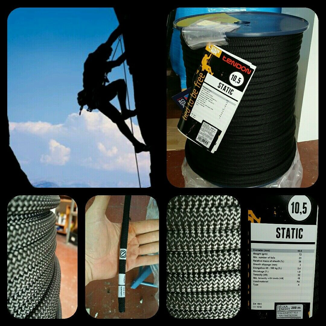Corda arrampicata STATICI 10.5mm x 200mts verticali cordone aventura speleologia