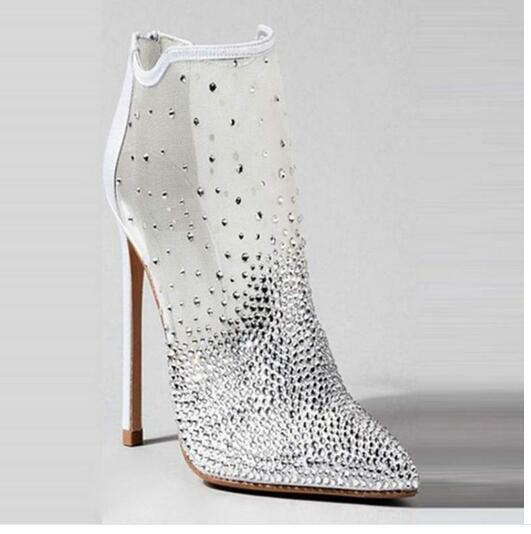 Women's Women's Women's Mesh Breathable Rhinestone Ankle Boots Stilettos High Top  shoes  lit01 c251f6