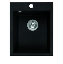 Granitspüle 48x39 - Schwarz Einbauspüle - für 40 cm Schrank