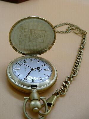 1 Taschenuhr Quarz Ketteuhr Halskette Segelschiff Retro Uhren Bronzefarbe 87cm
