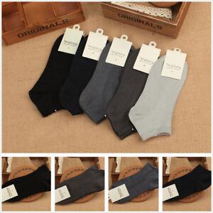 5-Pairs-Bamboo-Fiber-Antibacterial-Diamond-lattice-Men-039-s-Socks-Low-Cut-No-Show