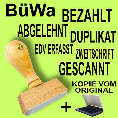 BÜWA COLOP Printer C20 Stempel Selbstfärber Büro Text Stempel schwarz #1161