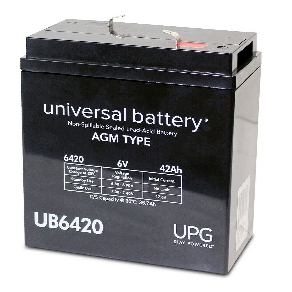 UPG 6V 42AH Replacement Battery for CHLORIDE CMF75 D2MF125 ELU10500B200