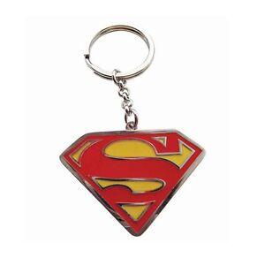 Genuine Dc Comics Superman Logo Enamel Metal Keyring Fob Key Ring