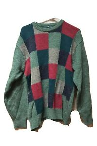 Orvis-Mens-Pure-Shetland-Wool-Sweater-Green-L-Pullover