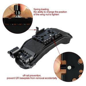 NICEYRIG 15mm Shoulder Pad Quick Release Plate for Video Camcorder Camera Rig