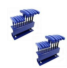 20 Piece SAE & Metric T-Handle Allen Hex Key Wrench Tool Set With Stand