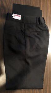 Martin-039-s-Police-Security-Uniform-Flat-Front-Black-Trouser-Pants-Size-30-Unhemmed