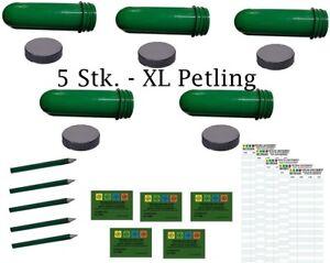 5 X Xxl Petling Set Logstreifen Coins Geocaching Cachette Petlinge Preform Cache-afficher Le Titre D'origine