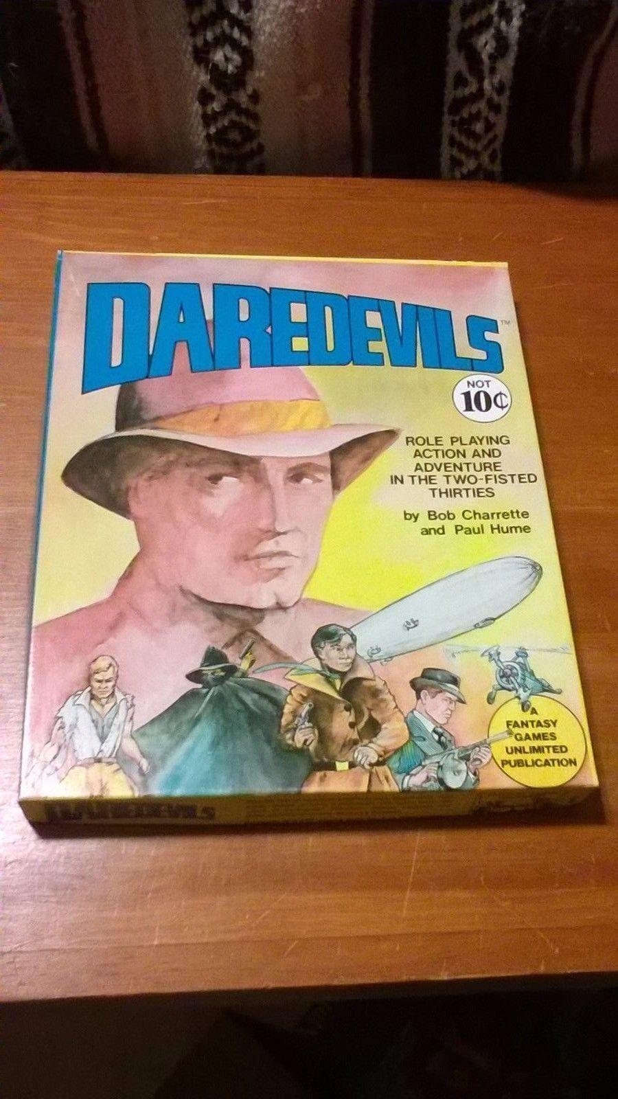 Daredevils RPG Box Set + 3 Adventure Modules (100% Complete - Hard to Find!)