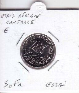 ESSAI-50-FRANCS-ETATS-AFRIQUE-CENTRALE-LETTRE-034-E-034
