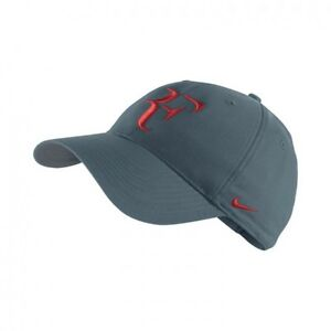 0149a38910ca6 Details about NEW Nike Hybrid RF Roger Federer Hat 371202-320 Night factor  / Red Dri Fit