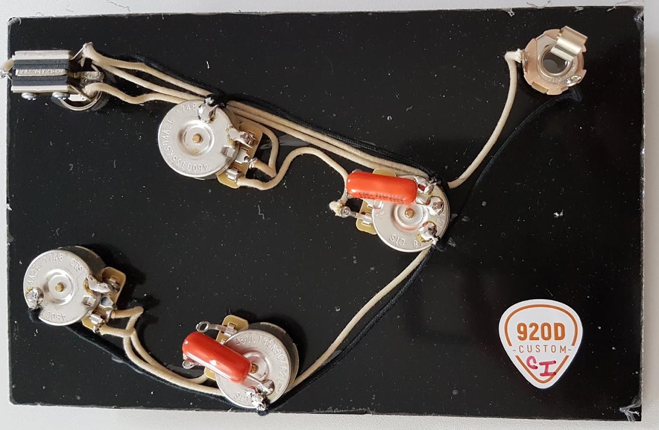 New KIT câblé 2V 2T ES335 - CTS Orange Swithcraft - wiring harness - guitare