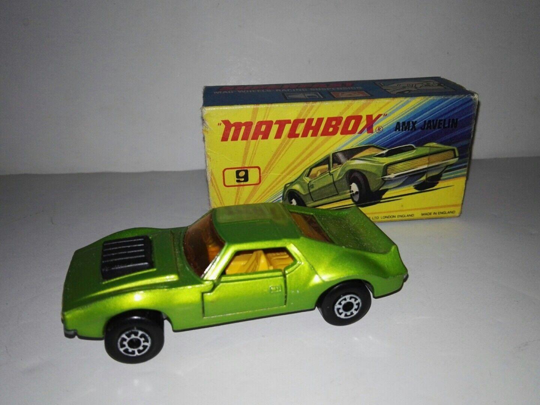 Matchbox Superfast N° 9e AMX Javelin with original box 1972 rare