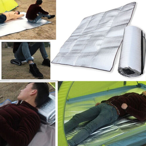 Outdoor Camping Sleeping Mattress Mat Pad Waterproof Aluminum Foil EVA Mat 1x2m