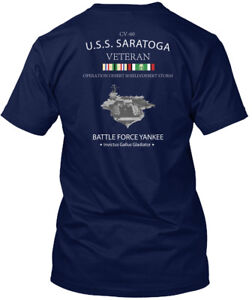 Uss-Saratoga-Ods-Veteran-Cv-60-Battle-Force-Yankee-Hanes-Tagless-Tee-T-Shirt