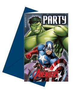 6pk-Marvel-Avengers-Power-Children-039-s-Birthday-Party-Invitations-amp-Envelopes