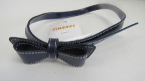 GYMBOREE Brightest in Class Navy Blue Belt Back to School w//Bow Size 3-4 5-7 NEW
