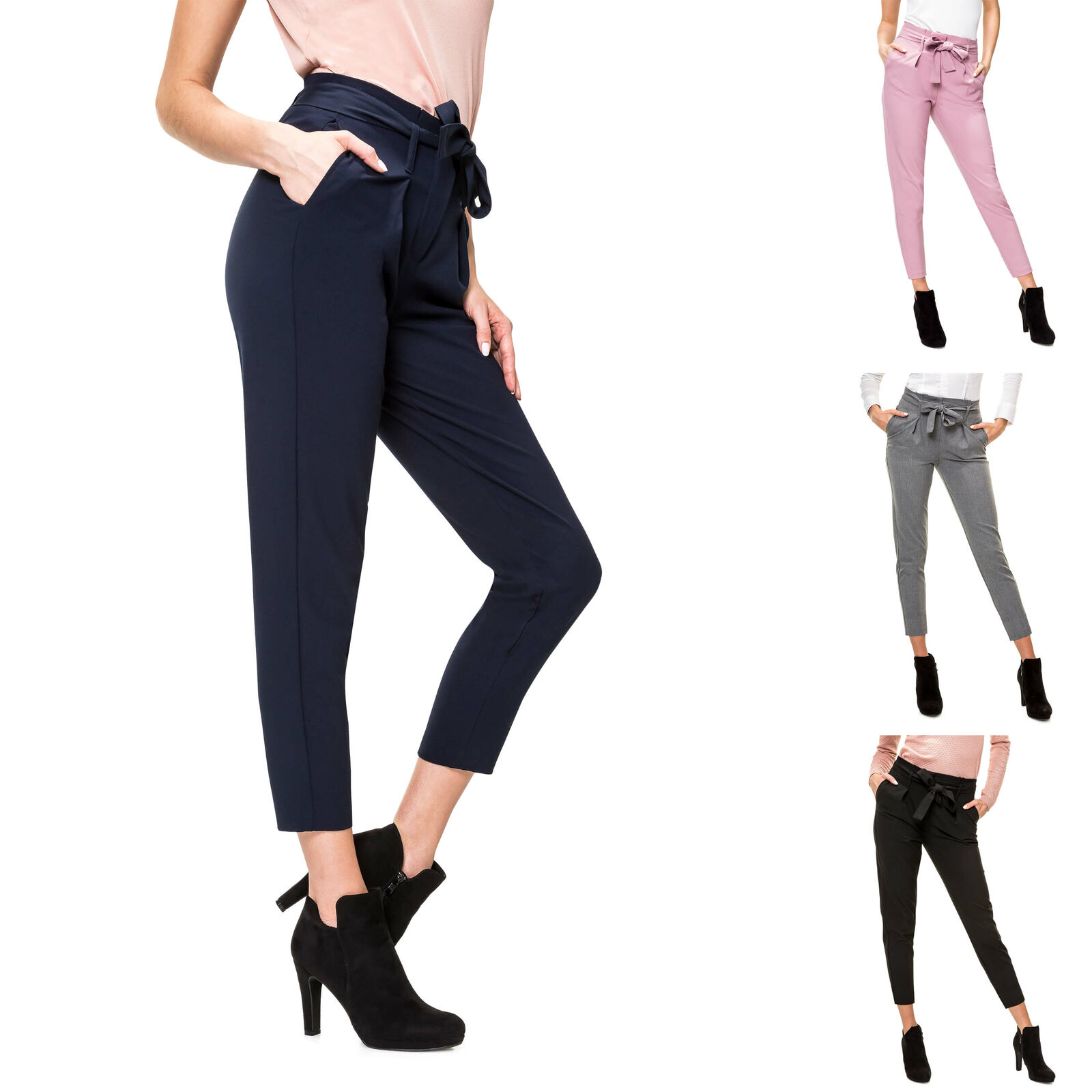 Only Damen Stoffhose Paperbag Hose Anzughose Comfort Fit Business Damenhose