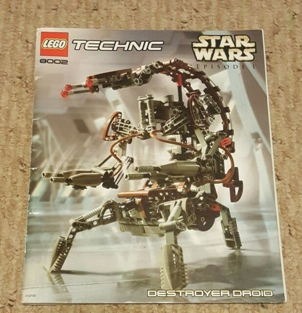 Lego Star Wars 8002 Technic Destroyer Droid Instruction Manual Only