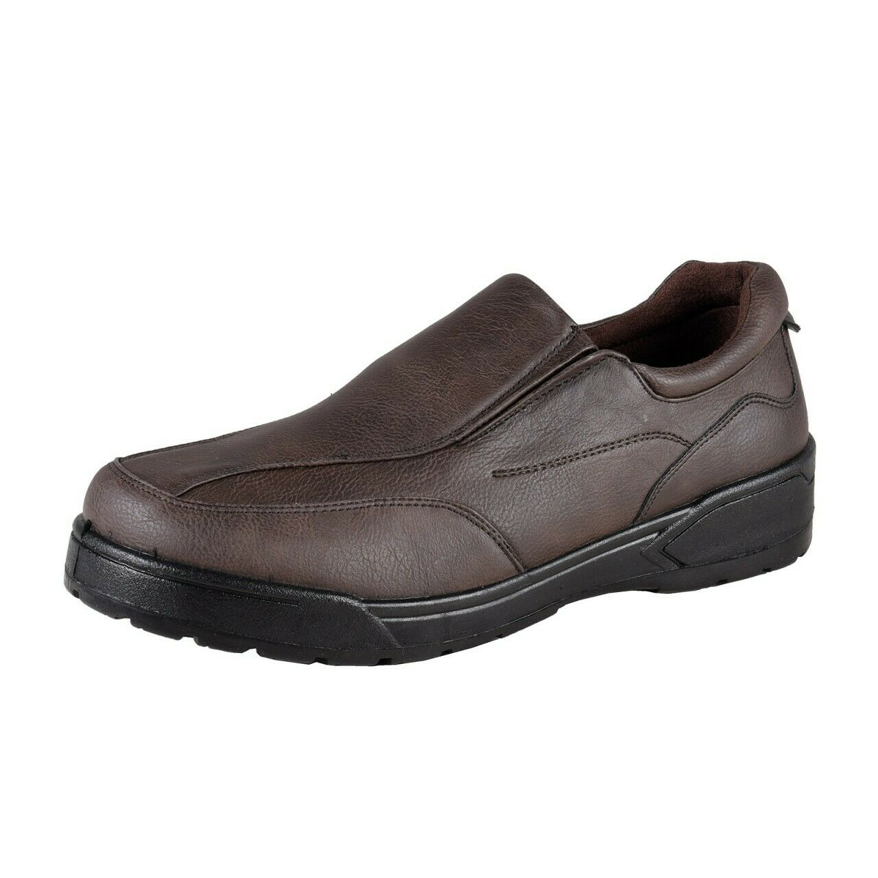 Mario Bucelli Men's Slip on shoes Comfortable Casual shoes New, Dark Brown