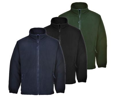 Portwest Men Wok Wear Fleece Anti-Pill Finish Jacket Aran Leisure Coat F205