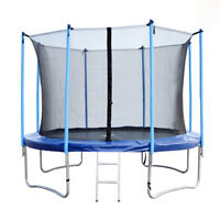BestMassage 14FT Round Trampoline with Enclosure, Net W/ Spring Pad Ladder