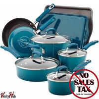 Rachel Ray Cookware Set Nonstick Non Stick Enamel Marine Rachael Pots Pans