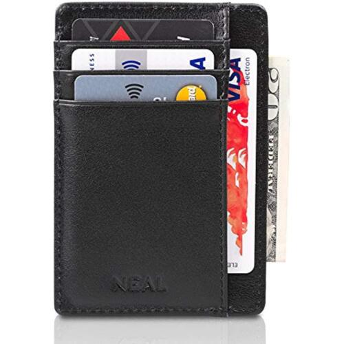 With Money Clip And Present Up Business Card Cases Front Pocket Slim Wallet Set