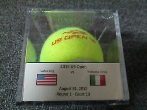 2015 US Open Roberta Vinci Vs. Vania King Round 1 Match Used Tennis Ball USTA