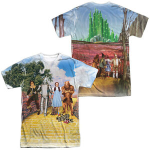 Wizard of Oz Movie ON THE ROAD 2-Sided Sublimated All Over Print Poly T-Shirt