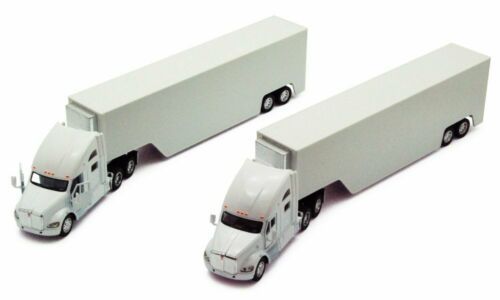 KENWORTH T700 CONTAINER TRUCK 1//68 SCALE WHITE DIECAST CAR BY KINSMART 1302WW